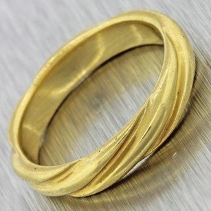 Tiffany & Co. Designer Tiffany Co. Vintage Estate 18k Solid Yellow Gold Band Ring