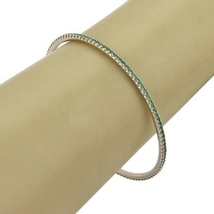 Tiffany & Co. Tiffany Co. Metro Tsavorite 18k White Gold Bangle