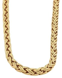 Tiffany & Co. Tiffany Co. 14k Yellow Gold 6mm Russian Weave Chain Necklace 16