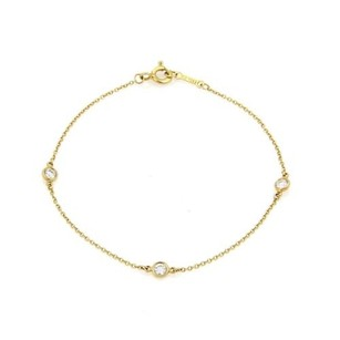 Tiffany & Co. Tiffany Co. Peretti Diamond By The Yard 18k Yellow Gold Bracelet