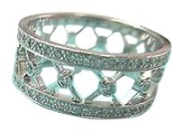 Tiffany & Co. Tiffany Co. Voile Platinum Diamond Weave Womens Wedding Band Ring