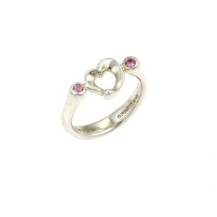 Tiffany & Co. Tiffany Co. Pink Sapphire Open Heart Ring In Sterling Silver -