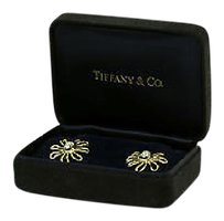 Tiffany & Co. Designer Tiffany Co. Paloma Picasso 18k Platinum Diamonds Floral Earrings