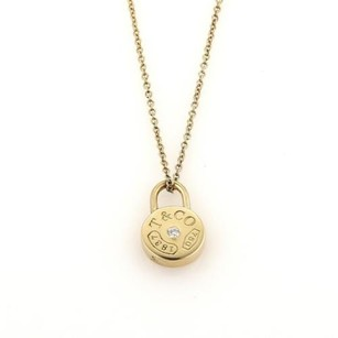 Tiffany & Co. Tiffany Co. Diamond 1837 Collection Mini Lock Pendant Necklace