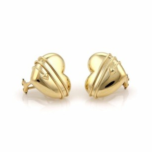 Tiffany & Co. Tiffany Co. 18k Yellow Gold Cupid Arrow Heart Post Clip Earrings