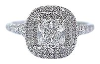 Tiffany & Co. Tiffany Co Platinum Cushion Cut Diamond Soleste Engagement Ring 1.03ct G-vvs1