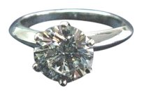 Tiffany & Co. Tiffany & Co PLAT Round Diamond Solitaire Engagement Ring 1.80CT I-VVS