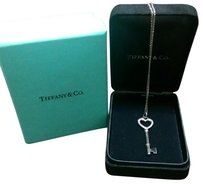 Tiffany & Co. Tiffany & Co Platinum Diamond Heart Key Necklace