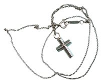 Tiffany & Co. Tiffany & Co. Silver Cross Pendant & Necklace