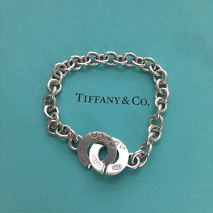 Tiffany & Co. Tiffany & Co. Silver 1837 T&CO Circle Clasp Link Toggle 7.75