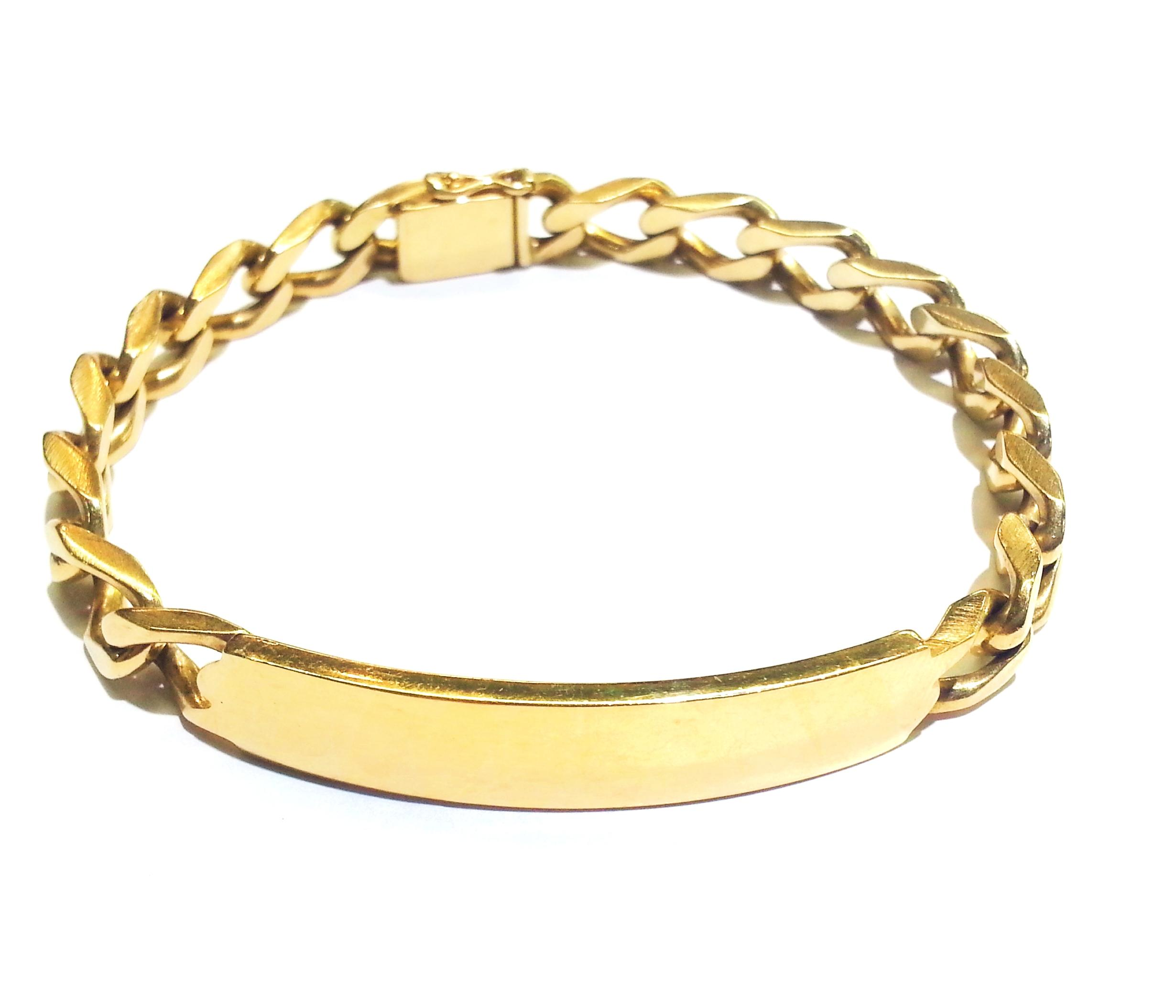 Tiffany & Co Co Vintage Heavy 14k Yellow Gold Id Bracelet Tradesy