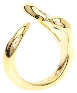 Tiffany & Co. TIFFANY&Co.18K Yellow Gold Open Heart Ring Us Size 4.5