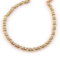Tiffany & Co. Tiffany Co. 14k Light Rose Gold Round Link Necklace 16