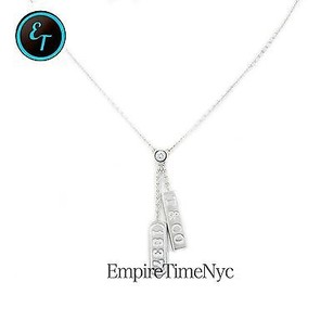 Tiffany & Co. Tiffany Co. 1837 Collection 18k White Gold With Diamond Neck 16