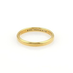 Tiffany & Co. Tiffany Co. 18k Yellow Gold 2mm Plain Dome Shape Wedding Band Ring