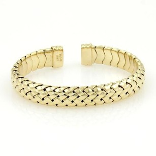 Tiffany & Co. Tiffany Co. 18k Yellow Gold Basket Weave Cuff Band Bracelet With Box