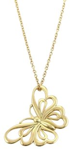Tiffany & Co. Tiffany Co. 18k Yellow Gold Butterfly Pendant Necklace