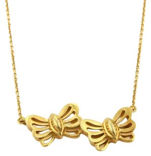 Tiffany & Co. Tiffany Co. 18k Yellow Gold Double Butterfly Pendant Necklace