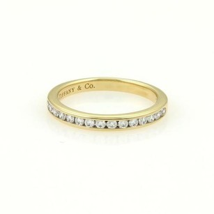 Tiffany & Co. Tiffany Co. 18k Yellow Gold Half Circle Diamond 2.5mm Band Ring