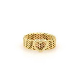 Tiffany & Co. Tiffany Co. 18k Yellow Gold Somerset Heart Band -