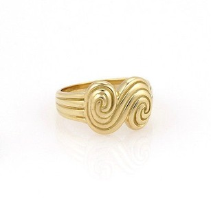 Tiffany & Co. Tiffany Co. 18k Yellow Gold Spiro Designer Ring