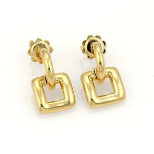 Tiffany & Co. Tiffany Co. 18k Yellow Gold Square Dangle Stud Earrings