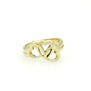 Tiffany & Co. Tiffany Co. 18k Yellow Gold Three Interlocking Hearts Ring