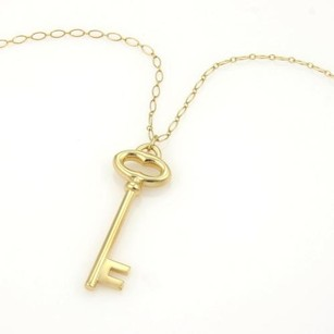 Tiffany & Co. Tiffany Co. 18k Ygold 2 Key To My Heart Pendant Long Oval Link Chain 30