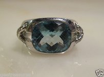 Tiffany & Co. Tiffany Co 18kt White Gold Diamond Aquamarine Ring 5.27cts Size 7 14