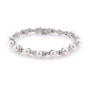 Tiffany & Co. Tiffany Co. Aria 2.18ct Diamonds Akoya Pearl Platinum Bracelet