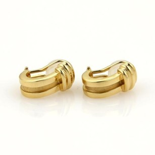Tiffany & Co. Tiffany Co. Atlas 18k Yellow Gold Huggie Earrings