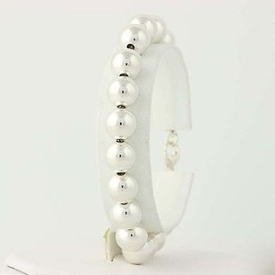 Tiffany & Co. Tiffany Co. Bead Ball Bracelet 14 - Sterling Silver Designer Gift 10mm