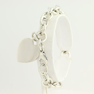 Tiffany & Co. Tiffany Co. Cable Chain Bracelet 7 - Sterling Silver Heart Charm