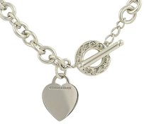Tiffany & Co. Tiffany Co. Cable Chain Necklace 16 - Sterling Silver Heart Charm