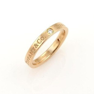 Tiffany & Co. Tiffany Co. Diamonds Logo 18k Rose Gold 3mm Band Ring 5.75