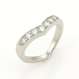 Tiffany & Co. Tiffany Co. Diamonds Platinum V Curved Band Ring- 6.25