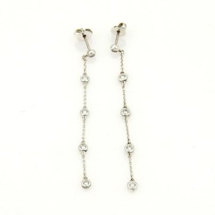 Tiffany & Co. Tiffany Co. Elsa Peretti 0.30ct Diamond By The Yard Sterling Drop Earrings