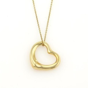 Tiffany & Co. Tiffany Co. Elsa Peretti 18k Yellow Gold Open Heart Pendant Necklace