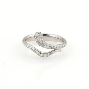 Tiffany & Co. Tiffany Co. Elsa Peretti Platinum Diamonds Snake Bypass Ring