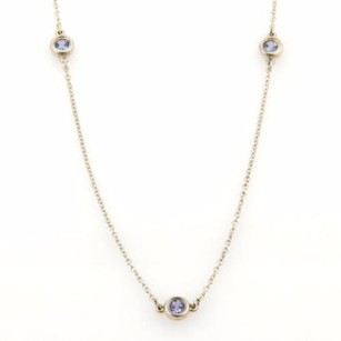 Tiffany & Co. Tiffany Co. Elsa Peretti Tanzanite Color By The Yard Sterling Silver Necklace