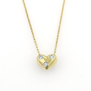 Tiffany & Co. Tiffany Co. Etoile Diamonds 18k Gold Platinum Heart Pendant Necklace