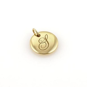 Tiffany & Co. Tiffany Co. Notes Ruby 18k Yellow Gold Letter L Round Pendant