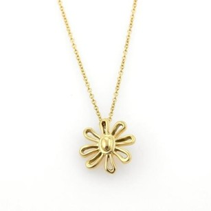 Tiffany & Co. Tiffany Co. Picasso 18k Yellow Gold Daisy Flower Pendant Necklace