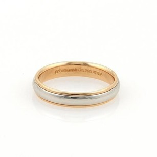 Tiffany & Co. Tiffany Co. Platinum 18k Rose Gold 4mm Wide Dome Wedding Band Ring
