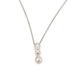 Tiffany & Co. Tiffany Co. Platinum Diamond Dangle Designer Pendant Necklace