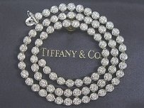 Tiffany & Co. Tiffany Co Platinum Elsa Peretti Bezel Set Diamond Tennis Necklace 5.75ct