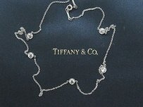 Tiffany & Co. Tiffany Co Platinum Elsa Peretti Diamond By The Yard Necklace 1.00ct 16 Pt950