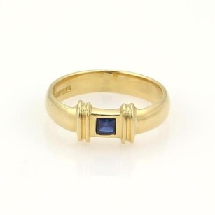 Tiffany & Co. Tiffany Co. Square Sapphire 18k Yellow Gold Stack Ring