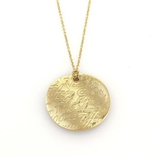 Tiffany & Co. Tiffany Co Tiffany Notes Round Shaped 18k Yellow Gold Pendant Necklace