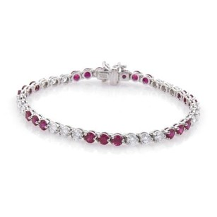 Tiffany & Co. Tiffany Co. Victoria 5.50ct Diamonds Rubies Platinum Floral Bracelet